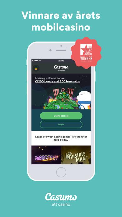 Casumo Mobil App Årets MobilCasino