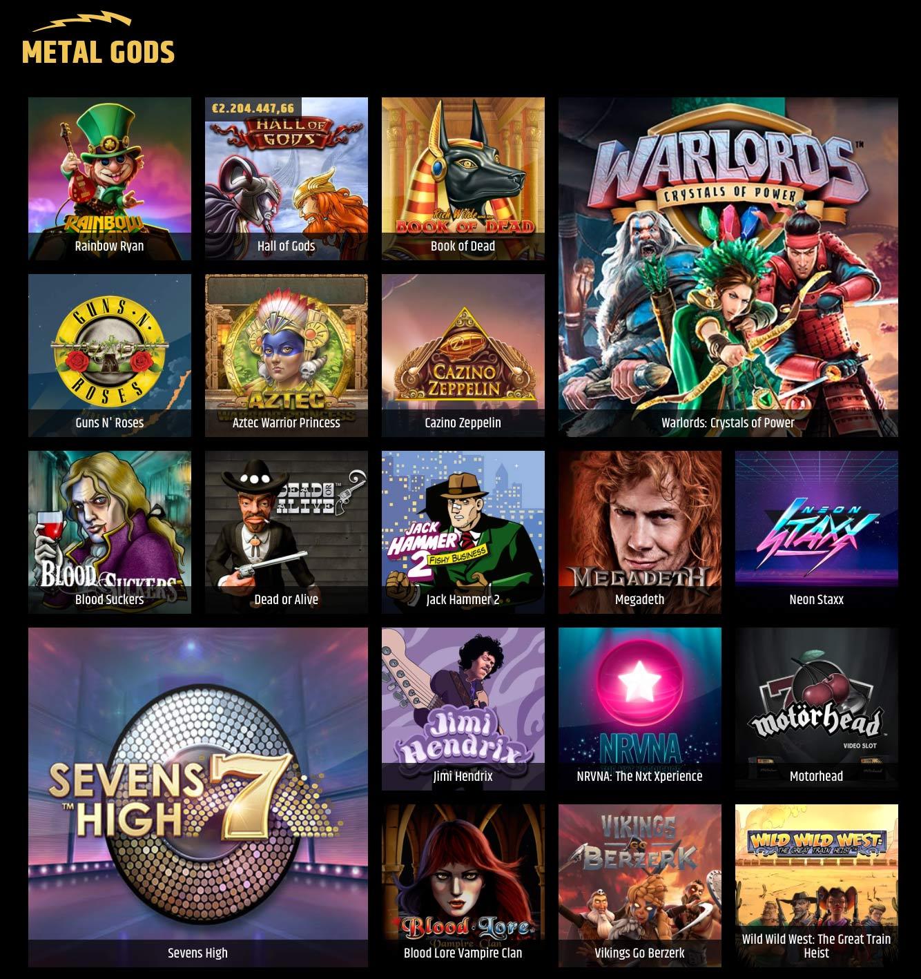Metal Casino Metal Gods Slots