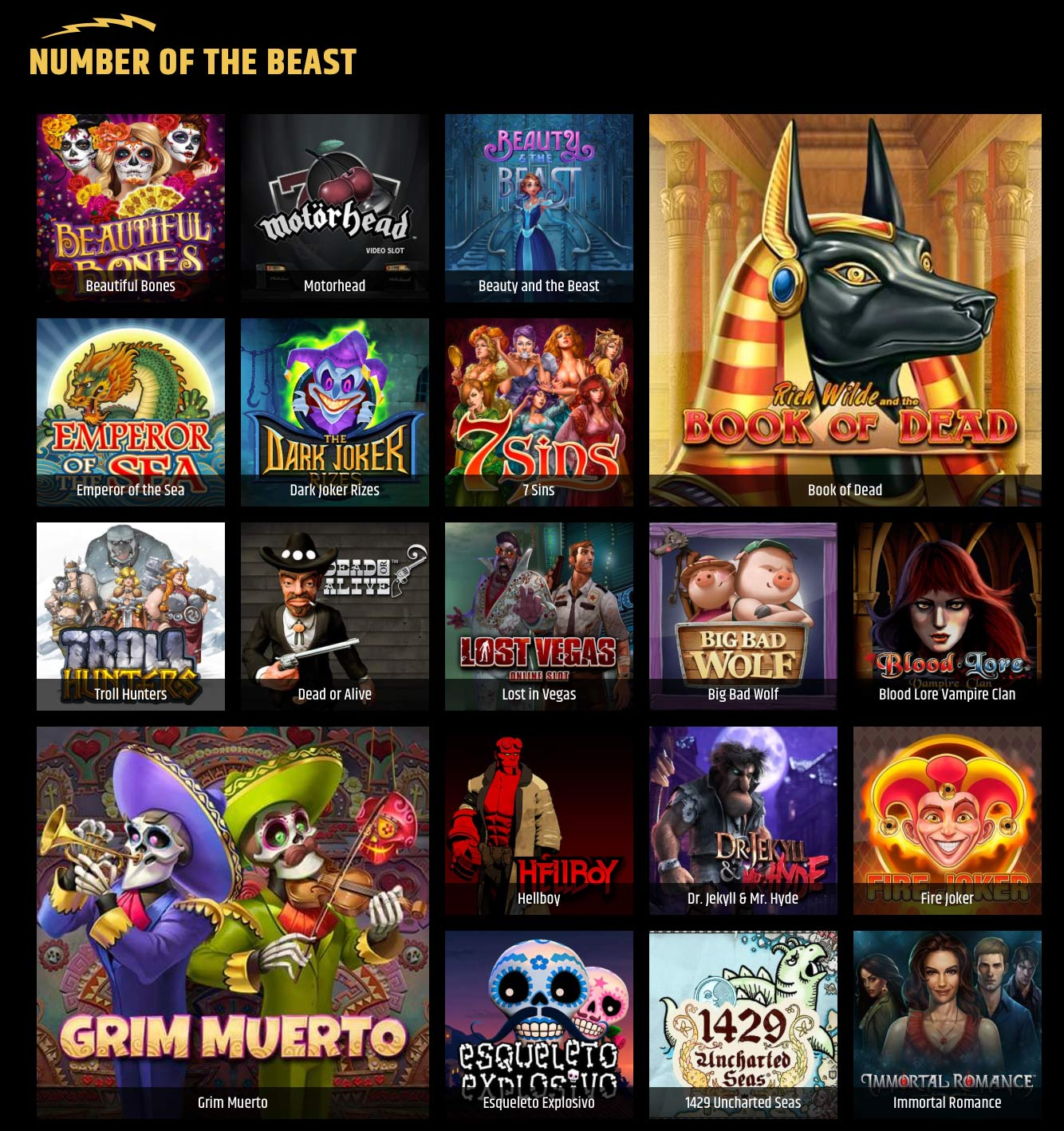 Metal Casino Number of the Beast Slots
